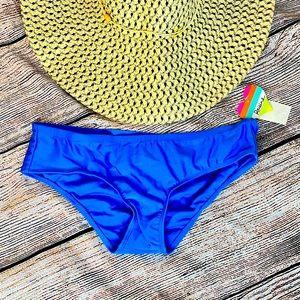 Raisins Ruched Blue Bikini Bottoms